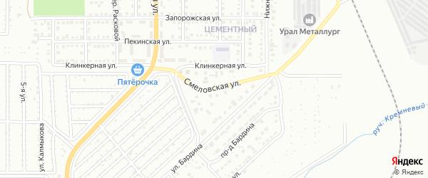 Смеловская улица на карте Магнитогорска с номерами домов