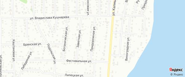Придорожная улица на карте Магнитогорска с номерами домов