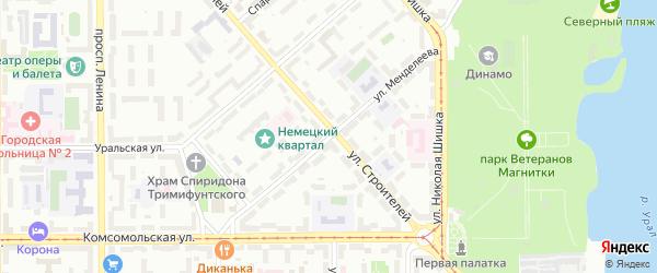 Улица Менделеева на карте Магнитогорска с номерами домов