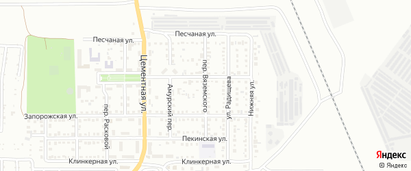 Переулок Вяземского на карте Магнитогорска с номерами домов