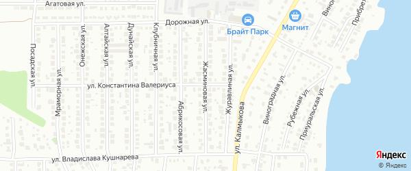 Жасминовая улица на карте Магнитогорска с номерами домов