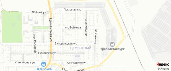Улица Радищева на карте Магнитогорска с номерами домов