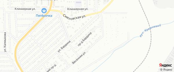 Проезд Бардина на карте Магнитогорска с номерами домов