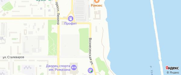 Вознесенская улица на карте Магнитогорска с номерами домов