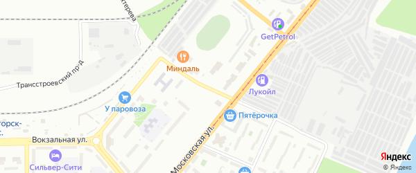 Улица Бехтерева на карте Магнитогорска с номерами домов
