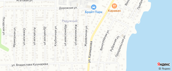 Журавлиная улица на карте Магнитогорска с номерами домов