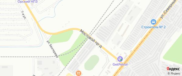 Мостовой проезд на карте Магнитогорска с номерами домов