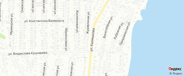 Улица Калмыкова на карте Магнитогорска с номерами домов