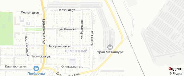 Нижняя улица на карте Магнитогорска с номерами домов