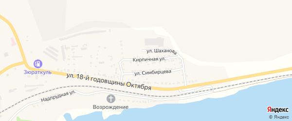 Кирпичная улица на карте Сатки с номерами домов