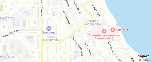 Мурманский переулок на карте Магнитогорска с номерами домов