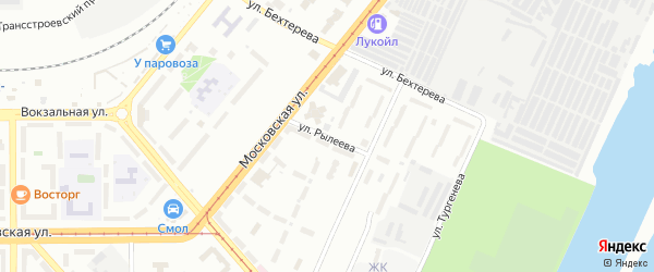 Улица Рылеева на карте Магнитогорска с номерами домов