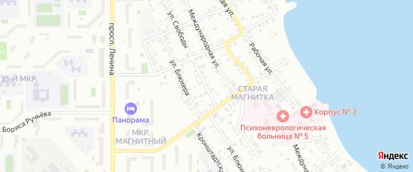 Улица Свободы на карте Магнитогорска с номерами домов