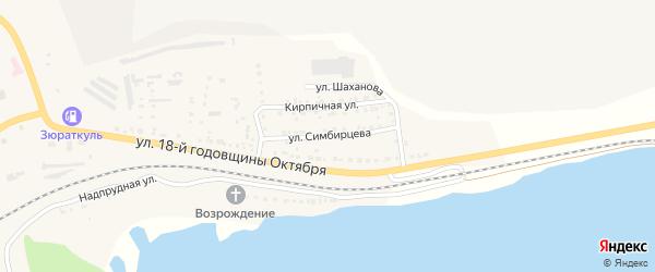 Улица Симбирцева на карте Сатки с номерами домов
