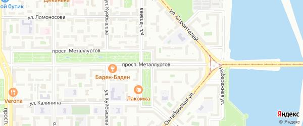 Улица Чапаева на карте Магнитогорска с номерами домов