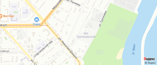 Парковая улица на карте Магнитогорска с номерами домов