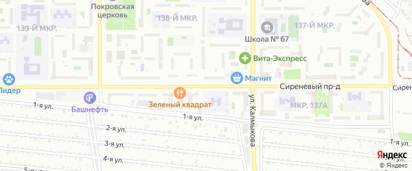 Сиреневый проезд на карте Магнитогорска с номерами домов