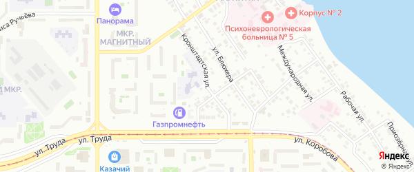 Кронштадтская улица на карте Магнитогорска с номерами домов