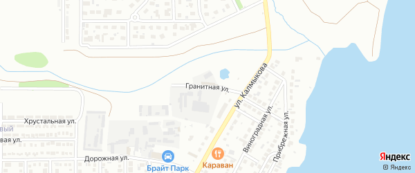 Гранитная улица на карте Магнитогорска с номерами домов