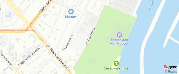 Улица Тургенева на карте Магнитогорска с номерами домов