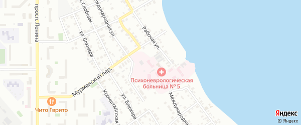 Территория ГСК Магнитка на карте Магнитогорска с номерами домов
