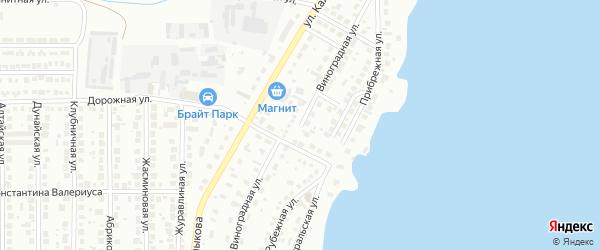 Виноградная улица на карте Магнитогорска с номерами домов