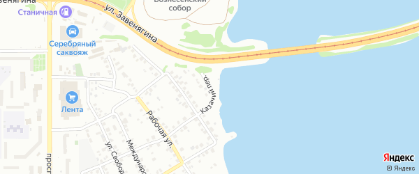 Казачий переулок на карте Магнитогорска с номерами домов