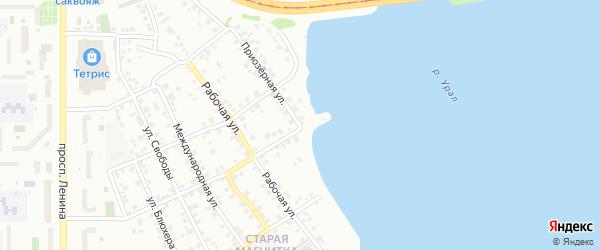 Приозерная улица на карте Южноуральска с номерами домов