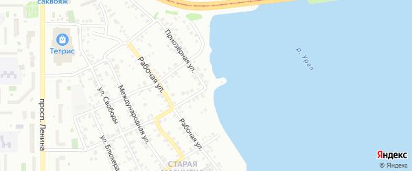 Приозерная улица на карте Магнитогорска с номерами домов
