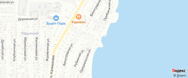 Прибрежная улица на карте Магнитогорска с номерами домов