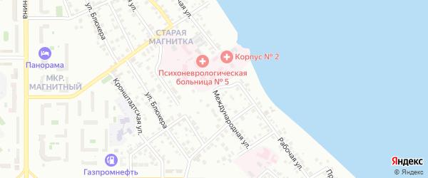Международная улица на карте Магнитогорска с номерами домов