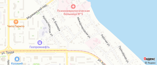 Исторический переулок на карте Магнитогорска с номерами домов