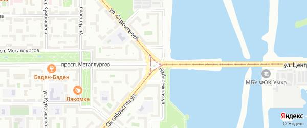 Площадь Носова на карте Магнитогорска с номерами домов