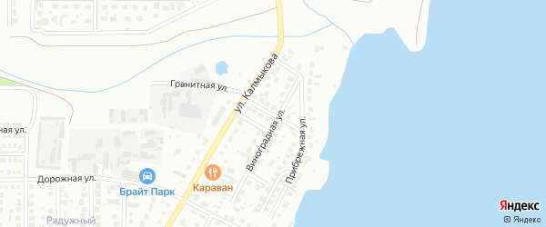 Третьяковой переулок на карте Магнитогорска с номерами домов