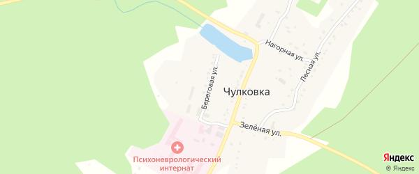 Береговая улица на карте поселка Чулковки с номерами домов