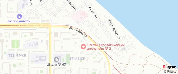 Улица Коробова на карте Магнитогорска с номерами домов