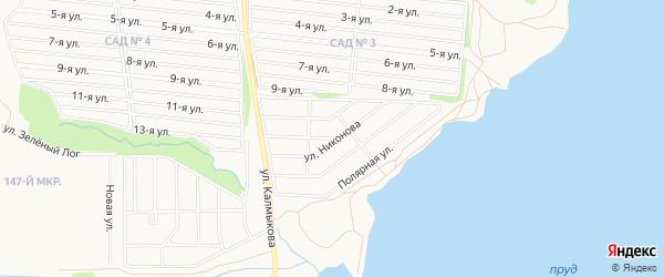 Карта Прибрежного поселка города Магнитогорска в Челябинской области с улицами и номерами домов