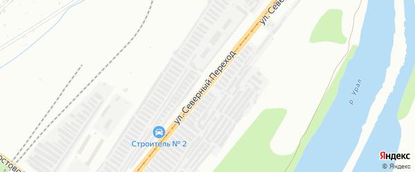 Улица Северный переход на карте Магнитогорска с номерами домов