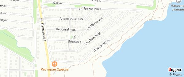 Улица Дымшица на карте Магнитогорска с номерами домов