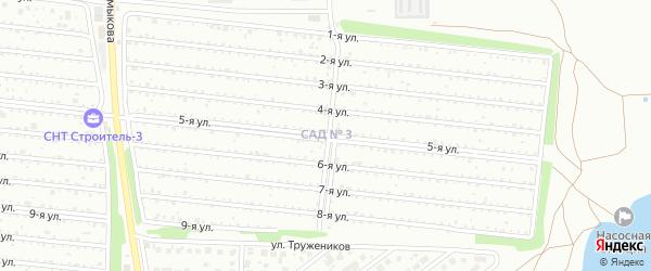 Территория ГСК Строитель (МГМИ) на карте Магнитогорска с номерами домов
