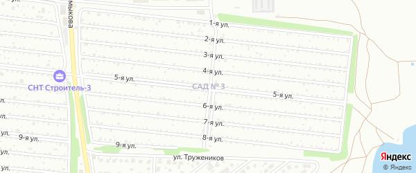 Территория ГСК Строитель-3А на карте Магнитогорска с номерами домов