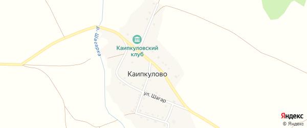 Школьная улица на карте деревни Каипкулово с номерами домов
