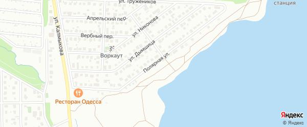 Полярная улица на карте Магнитогорска с номерами домов