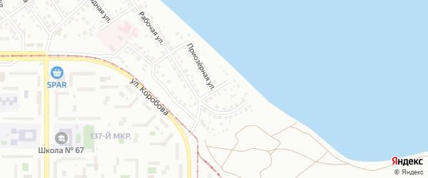 Окружная улица на карте Магнитогорска с номерами домов
