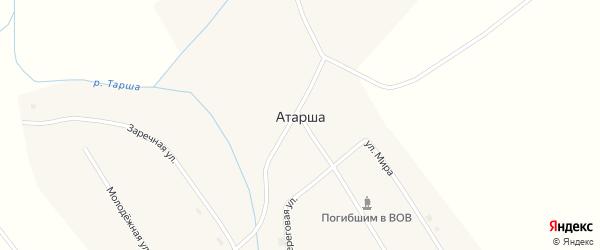Заречная улица на карте села Атарши с номерами домов