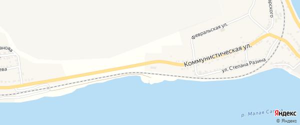 Коммунистическая улица на карте Сатки с номерами домов