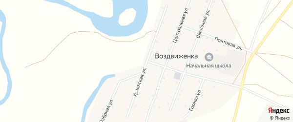Уральская улица на карте поселка Воздвиженки с номерами домов