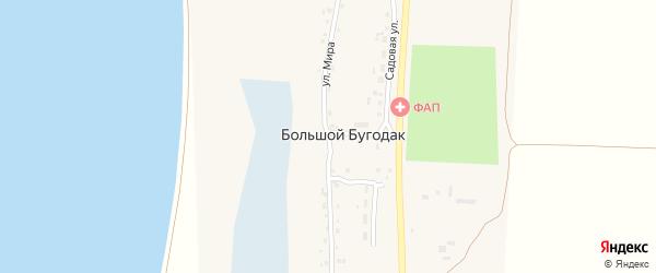Улица Мира на карте села Большого Бугодака с номерами домов