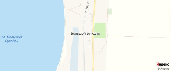 Карта села Большого Бугодака в Челябинской области с улицами и номерами домов