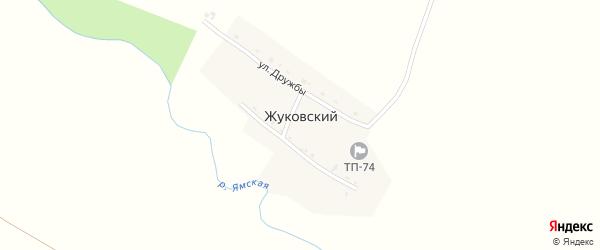 Заречная улица на карте Жуковского поселка с номерами домов